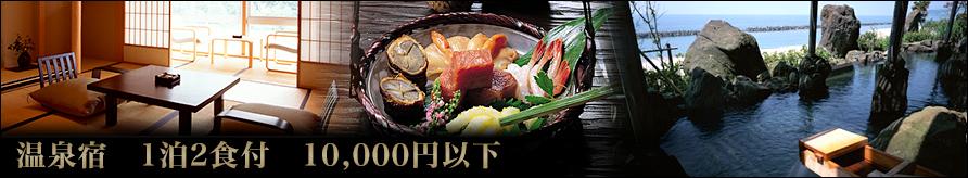 1泊2食付1万円以下