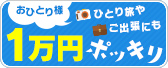 おひとり様\1万円ポッキリ/プラン!