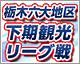 栃木六大地区下期観光リーグ戦