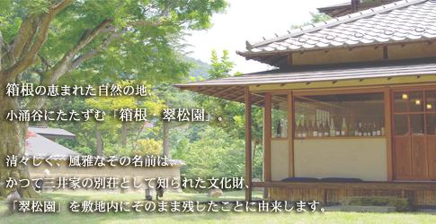 (ホテル名) 箱根・翠松園